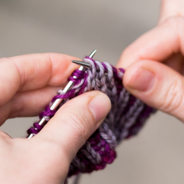 then return the MC stitches being careful not to drop any of the yarn overs.